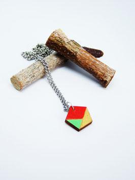 "Polygonkette aus Holz ""Orange Polygon"""