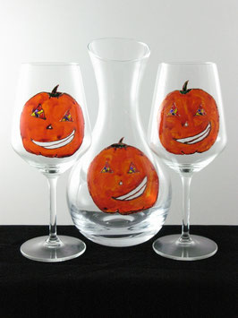 "Decanter e calici ""Halloween"""