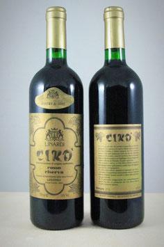Cirò Doc Rosso Superiore Riserva 1995 - Bottiglia bordolese da 750 ml.