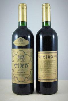 Cirò Doc Rosso Superiore Riserva 1991 - Bottiglia bordolese da 750 ml.