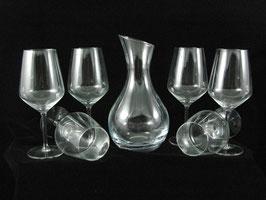 Set 6 bicchieri Carrè 53 + 1 decanter Gerico 1,25lt
