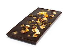 Tablettes de chocolat noir 99% sans sucre ajouté abricot noisette 100g