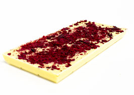 Tablettes de chocolat blanc 35% framboise 100g