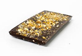 Tablettes de chocolat noir 63% noisette 100g