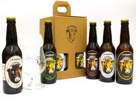 Coffret 3 Bières artisanales La Banou 33 cl avec son verre
