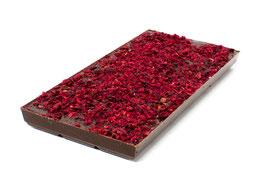 Tablettes de chocolat noir 63% framboise 100g