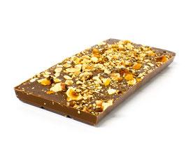 Tablettes de chocolat lait 35% noisette 100g