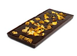 Tablettes de chocolat noir 99% sans sucre ajouté figue noix 100g