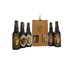 Coffret 5 Bières artisanales La Banou 33 cl