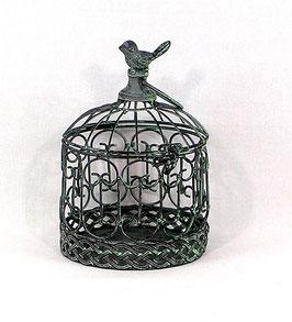 Käfig, grün, antik, rund, klein