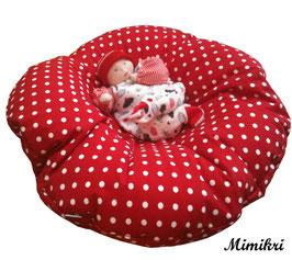 Baby-Nestchen Red Polka Dots