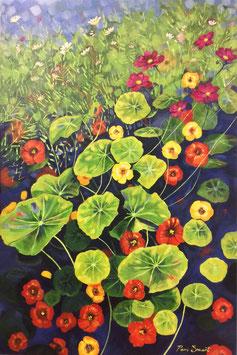 'Nasturtiums' Art Print