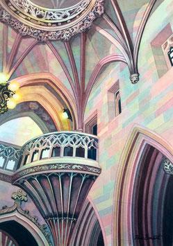 'The John Rylands Library' Manchester Art Print