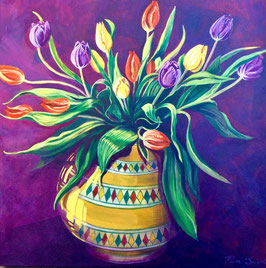 'Spring Tulips' Art Print