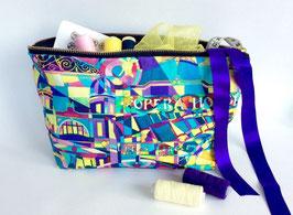 Matcham Mosaic Large Cotton Zip Bag