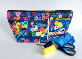 Roll With It Large Cotton Zip Bag