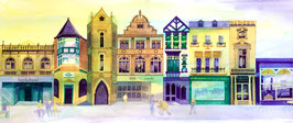 'Top Of The Shops' Buxton Art Print