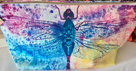 Lacewings Dragonfly Large Cotton Zip Bag