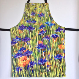 'Cornflowers' Cotton Apron
