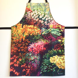 'Colourful Garden' Cotton Apron
