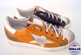 L'IDEA Sneaker 119-1 ockergelb/dunkelblau