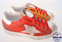 L'IDEA Sneaker 121-2 rot/ockergelb
