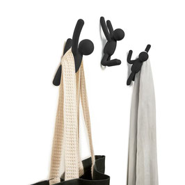 Buddy Wall Hooks 3er Set (schwarz)