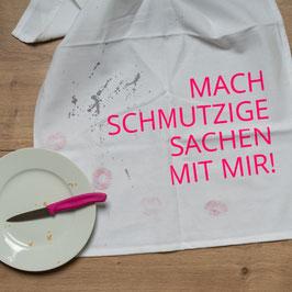 """Geschirrtuch """"Mach schmutzige Sachen mit mir"""" von 17;30 aus Hamburg"""