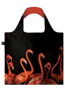 LOQI Einkaufsbeutel - National Geographic Flamingo Bag