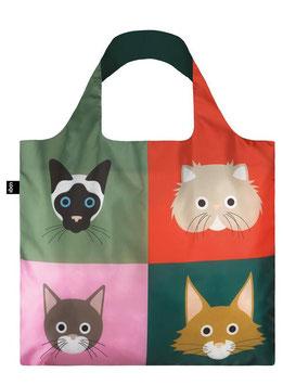 LOQI Einkaufsbeutel - cat bag