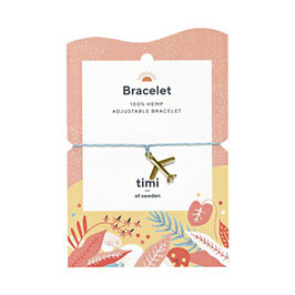 Make a Wish Armband goldene Flugzeug von timi