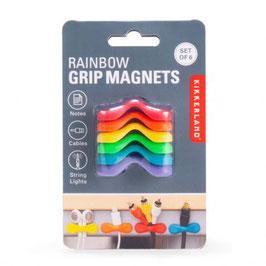 Kabelhalter magnetisch Rainbow 6er-Set (Kikkerland)