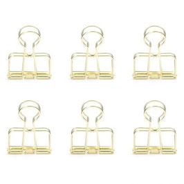 Klammern Wire Clips gold, 6er-Set (Kikkerland)