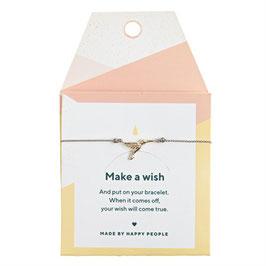 Make a Wish Armbänd silbernes Herz von timi