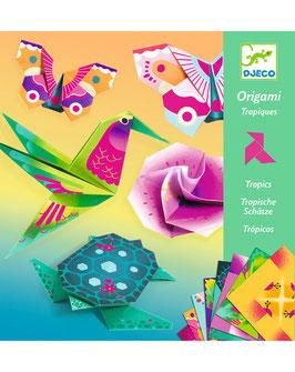 Origami-Bastelset TROPICS in bunt