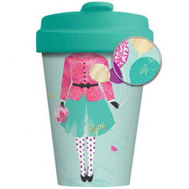 Chic Mic Bamboo Cup To Go Girl and Balloons