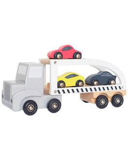 JaBaDaBaDo Holz-Auto SPORTSCARS TRAILER 4-teilig in bunt
