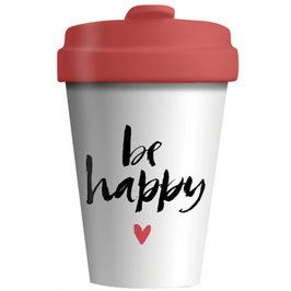 Chic Mic Bamboo Cup To Go Be Happy