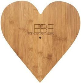 Herzschneidebrett groß aus Holz von räder