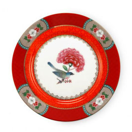 Teller 17cm Blushing Birds red