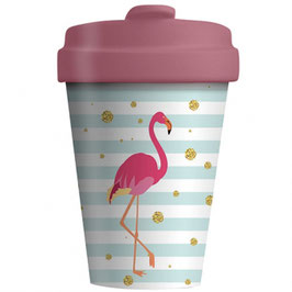 Chic Mic Bamboo Cup To Go Flamingo