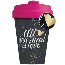 Chic Mic Bamboo Cup To Go All you need is Love