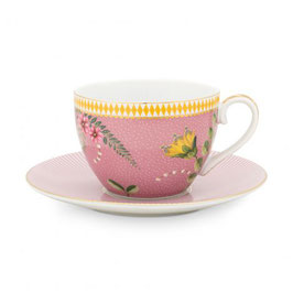 Tasse mit Unterteller 280ml La Majorelle pink