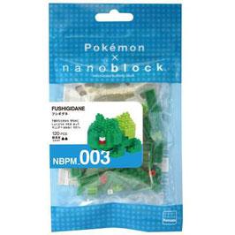 Nanoblock 3D-Puzzle Pokémon Bulbasaur in Micro-Format
