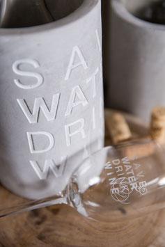 """Weinkühler """"Save Water, Drink Wine"""" von räder"""