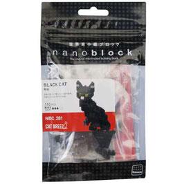 Nanoblock 3D-Puzzle schwarze Katze in Micro-Format