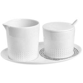 Milch und Zucker Set weiss (4tlg) von räder