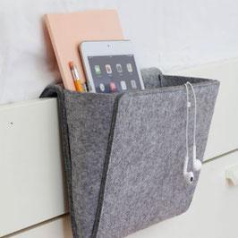 Betttasche / Ablagefach - Organizer Bedside Pocket, grau (Kikkerland)