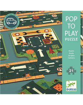 Boden-Puzzle STRASSEN 21-teilig