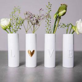 Minivasen 4er Set LOVE von räder